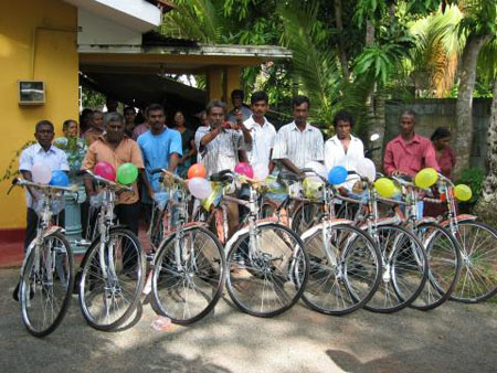 Sri Lankan cyclists Critical Mass