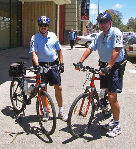 Perth cycling police officers, Australia