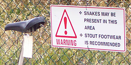 snake warning, Perth