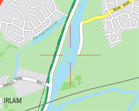 Missing Irlam Lock on cycle GM map