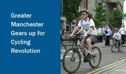 Cycle commuters Greater Manchester