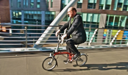 Norman Baker cycling in Manchester