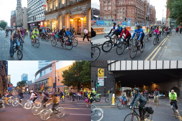 And we're off! All sorts of people on all sorts of bikes; a really diverse group of people all asking for the same thing - safe #space4cycling